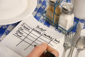 Scribbled-budget-on-a-napkin